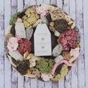 Romantikus ajtódísz, Dekoráció, Otthon, lakberendezés, Ajtódísz, kopogtató, Száraz termésekből készült ez az ajtódísz, amely minden évszakban díszitheti a bejáratot finom, pasz..., Meska