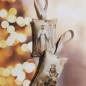 Karácsonyi levendulapárnák, Karácsonyi képekkel díszített, levendulával t...