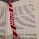 Szív mintás könyvjelző , Otthon & Lakás, Tárolás & Rendszerezés, Csomózás, Csomózott könyvjelző piros-rózsaszín színekben. Pamutból készült, mosható és vasalható is. Bármilye..., Meska