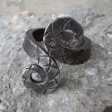 Kovácsolt gyűrű13, Ékszer, Férfiaknak, Ruha, divat, cipő, Gyűrű, Rozsdamentes anyagból készült egyedi tervezésű és mintázatú gyűrű.Mérete kérésre állí..., Meska