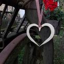 Kovácsolt nagy szív esküvőre, Esküvő, Esküvői dekoráció, Nászajándék, Kovácsoltvas termék., Meska