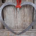 Kovácsolt nagy szív, Esküvő, Szerelmeseknek, Kovácsolással készült szív. Mérete: kb 20 cm, Meska