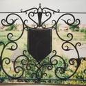 Címeres korlát, Otthon, lakberendezés, Kovácsoltvas, Saját tervezésű kovácsolt erkély korlát, melynek méretei: 90 cm magas, teljes hossza 7 m.A korlát f..., Meska
