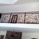 Erkély korlát, Otthon, lakberendezés, Kovácsoltvas, Egy kedves megrendelő által tervezett kovácsolt erkély korlát, melynek méretei: 90 cm magas, teljes..., Meska
