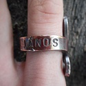 Réz gyűrű, Ékszer, óra, Férfiaknak, Ruha, divat, cipő, Gyűrű, Fémmegmunkálás, Kovácsoltvas, Rézből készült egyedi tervezésű és mintázatú gyűrű. Név és/vagy dátumbeütés ajándék. Kívülre, belül..., Meska