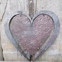 Szív a szívben, Esküvő, Kovácsolással készült szív. Mérete: kb 20 cm, Meska