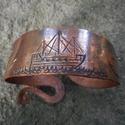 Kovácsolt réz karkötő-Hajó