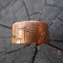 Réz gyűrű-Tanya, Ékszer, óra, Férfiaknak, Ruha, divat, cipő, Gyűrű, Fémmegmunkálás, Kovácsoltvas, Rézből készült egyedi tervezésű és mintázatú gyűrű. Mérete kérésre állítható. Mérete: 1,5 cm széles..., Meska