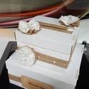 pénzes ajándék gyűjtő doboz, Esküvő, Meghívó, ültetőkártya, köszönőajándék, Nászajándék, Esküvői dekoráció, Papír dobozból készült ajándékos dobozka, mely a főasztal éke is lehet az esküvők alkalmá..., Meska