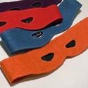 Tini nindzsa álarc szett 4db-os, Játék, Társasjáték, Farsangi jelmez, Filc tini nindzsa álarc szett.   48-50 cm a bősége, és hátul gumis.  Piros, kék, lila és narancssárg..., Meska