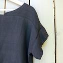 Blúz, Ruha, divat, cipő, Női ruha, Blúz, Felsőrész, póló, Varrás, Régebbi kollekcióból megmaradt fekete oversize pamutvászon blúz. Nagyon finom, hűvös tapintású, lág..., Meska