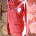 táskapulcsi, máyva, Ruha, divat, cipő, Női ruha, Kabát, Raglán ujjú táskapulcsi, mályva színben. A klasszikhoz képest testhezállóbb a felső részénél.   Tásk..., Meska