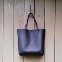 Valódi bőr Bevásárlótáska, fekete, Valódi bőr táska. Gyönyörű selymesen matt ma...