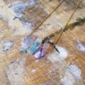 Fluorit nyaklánc , Fluorit nyaklánc.  A lánc hossza 50 cm.  A medá...