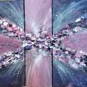 Pink-abstract, Otthon & lakás, Képzőművészet, Festmény, Akril, Napi festmény, kép, Festészet, 40 x 60 cm-es-, vászonra készült akrilfestmény. Színes vászonkép, ahol a pink szín és annak árnyala..., Meska