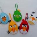 Angry birds  tojások nem csak húsvétra, Dekoráció, Baba-mama-gyerek, Húsvéti apróságok, Ünnepi dekoráció, Varrás, Hímzés, Nálam is támadnak a jómadarak :)   Tojás formában köszönnek vissza a közkedvelt Angry birds figurák..., Meska