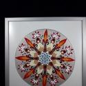 Érzelem mandala, Dekoráció, Otthon, lakberendezés, Kép, Falikép, Üvegművészet, Üvegfestéssel, 2-es üvegre festett mandala. Az üveg mérete 40x40 cm, a keret 2 cm széles ezüst szín..., Meska