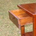 kisasztalka, Bútor, Dekoráció, Asztal, Tömör tölgyfából készített fiókos kisasztal.  magasság: 90 cm asztallap mérete:50x40 cm, Meska