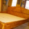 családi ágy II., Bútor, Játék, Otthon, lakberendezés, Ágy, 2 db 200 x 90 cm-es matrachoz,  gerenda-padlóanyagból készült franciaágy, mart monogrammal, tölgy la..., Meska