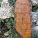 Emlék, Dekoráció, Esküvő, Otthon, lakberendezés, Nászajándék, Famegmunkálás, Mindenmás, Nászajándéknak szánt fali dísz. Tömör cseresznyefába rótt szöveg (Házastársak imája) A fa anyaga, m..., Meska