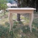 Laptop asztalka, Bútor, Dekoráció, Otthon, lakberendezés, Asztal, Tömör fából készült egy fiokos konzolasztal kezeletlenül! magasság: 85cm, asztallap mérete: 80 x 35 ..., Meska