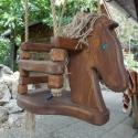 lovas hinta, Játék, Kerti játék, Fajáték, Baba játék, Tömör fenyőfából készült hinta kisgyerekeknek. A képen látható lovas hinta 1-4 éves korig méretezve,..., Meska