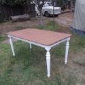 szétszedhető ebédlőasztal, Bútor, Dekoráció, Asztal, Fenyőfából készült, esztergált lábú, 160x90 cm asztallapú, 75 cm magasságú szétszerelhető ebédlőaszt..., Meska