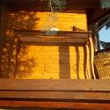 széles 1 fiokos konzolasztalka, Bútor, Dekoráció, Asztal, Fenyőfából készült, egy fiókos, íves lábú konzolasztal tölgy színre pácolva, lakkozva. magasság: 93c..., Meska