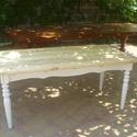 padlólapos rusztikus ebédlőasztal, Bútor, Dekoráció, Asztal, Fenyőfából készült, esztergált lábú, 180x80 cm asztallapú, 75 cm magasságú ebédlőasztal.  Színezés i..., Meska