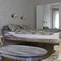 családi ágy IV., Bútor, Otthon, lakberendezés, Ágy, 200x180x30 cm-es biomatrachoz készített ágy tömör fenyőfából, felületkezelve (sötétbarna , mustársár..., Meska