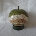 """""""Zöld kupola"""" ( asztali töklámpa), Dekoráció, Otthon, lakberendezés, Lámpa, Hangulatlámpa, Festett tárgyak, Mindenmás, A termék alapanyaga lopótök. Elkészítése során a fúrás, festés, gyöngyözés technikáit alkalmaztam. ..., Meska"""