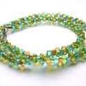 Bohém Farfalle, 6mm-es színes farfalle gyöngyökből készült e...