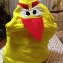 Citromsárga Angry Bird kapucnis törülköző kamaszoknak, felnőtteknek, Mindenmás, Baba-mama-gyerek, Férfiaknak, Furcsaságok, Varrás, Angry Bird citromsárga  frottír törülközőből készült kapucnis törülköző uszodába, minden napos hasz..., Meska