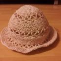 horgolt lányka kalap, Ruha, divat, cipő, Gyerekruha, Kisgyerek (1-4 év), Horgolt lányka kalap,mely kiváló védelmet és elegáns viseletet biztosít a nyári meleg napsü..., Meska