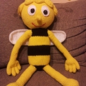 méhecske, Gyerek & játék, Játék, Játékfigura, Plüssállat, rongyjáték, Egy közkedvelt gyermekműsor ihlette ezt az imádnivaló méhecskét. Gyermekünk igazi játszópajtása lehe..., Meska