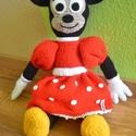 Egér lány, Gyerek & játék, Játék, Játékfigura, Közkedvelt mesék hősnője Minnie egér ihlette egyik legújabb amigurumi alkotásomat.Egy kedves visszat..., Meska