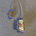Magas rezgésű virágos inga--extra egyedi, Ékszer, Mindenmás, 925%o sterling ezüsttel bevont drágaköves inga.  Virágos ezüstfóliás kézzel készült üveggyöngyös ing..., Meska