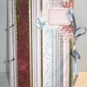 Pasztell jegyzetfüzet, Naptár, képeslap, album, Jegyzetfüzet, napló, Könyvkötés, Papírművészet, 100 db sima fehér lapot tartalmazó, színes csíkos könyvecske. Sokféle színű (bordó, kék, zöld, rózs..., Meska