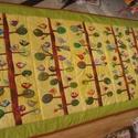 Madárkás falvédő gyerekszobába, Gyerek & játék, Otthon & lakás, Dekoráció, Kép, Varrás, Régebben sok ilyen falvédőt készítettem, faágakon csücsülő rengeteg, különböző színű madárkával. Eg..., Meska