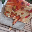 Textil hátizsák az ősz szineivel, Táska, Divat & Szépség, Táska, Hátizsák, Válltáska, oldaltáska, Varrás, Erős vászon anyagokból készült hátizsák. Merevítő béléssel megerősítettem, sűrűn tűztem, hogy jó ta..., Meska