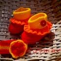 Egyedi napsugár szett babáknak, Ruha, divat, cipő, Baba-mama-gyerek, Gyerekruha, Baba (0-1év), Ragyogó, vibráló nap színű, sárga-narancs-piros szett 1-2 éves babáknak.  Anyaga közepesen vastag ke..., Meska