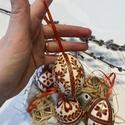 4 db maratott hímes tojás virágos mintákkal, Hagyományos hímes tojás különleges maratási ...