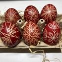 6 db piros hímes tojás, Otthon & Lakás, Dekoráció, Mindenmás, Hagyományos piros hímes tojás.  A tojások 6 db klasszikus tyúktojás méretének felelnek meg.   A hím..., Meska