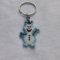 Olaf kulcstartó, Jégvarázsból ismert vicces Hóember. 4 cm magas...