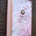 Romantikus emlékkönyv, napló, Naptár, képeslap, album, Jegyzetfüzet, napló, Papírművészet,  Szép emlék lehet leány búcsúztatóra, esküvőre, fontosabb családi események megörökítésére. Gyöngyd..., Meska
