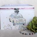 Esküvői pénzátadó doboz- Vidám, Esküvő, Mindenmás, Nászajándék, Közepes méretű vidám hangulatú pénzgyűjtő doboz egy jó hangulatú esküvőhöz. Magába fogadja a Nektek ..., Meska