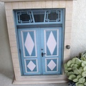 KULCSTARTÓ SZEKRÉNY -  Tallini utcák, Otthon, lakberendezés, Tárolóeszköz, Nagy méretű egyedi kulcstartó szekrényt készítettem, stílszerűen egy tallini kapuval. Az ajtót a tal..., Meska