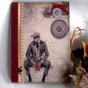 Emlékkönyv, napló - Sherlock Holmes , Naptár, képeslap, album, Férfiaknak, Jegyzetfüzet, napló, Naptár, jegyzet, tok, A könyv elegáns, kicsit komolyabb a korábbiaknál, de határozottan állítom, hogy gyönyörű, ..., Meska