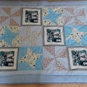 Babatakaró- patchwork takaró- játszószőnyeg, Gyerek & játék, Gyerekszoba, Falvédő, takaró, Patchwork, foltvarrás, Patchwork technikával készült egyedi babatakaró. Igényesen összevállogatott színekből szép kidolgoz..., Meska