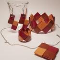 Papír ékszer ősz, Ékszer, Ékszerszett, Papírművészet, Egyedi kézzel készített ékszerszett. Origami jellegű technikával, vékonyabb színes kartonpapírból k..., Meska